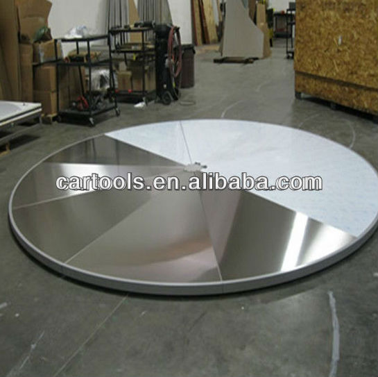 Slim car turntable for trade fair or car display