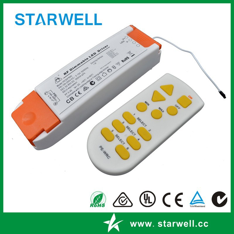 PE30FR85 Wireless remote controllable dimmable led driver
