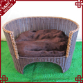 Custom made decorative high quality rattan pet dog cat sofa bed with cushion plastic dog beds
