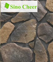 Wave stone rock wall panel;interior wall stone decoration;imitation stone wall cladding