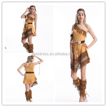 Indian Costume Squaw Ladies Pochantas costume Western Womens Fancy Dress Adults Outfit