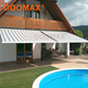 Decorative Solair Aluminum Side Garden Retractable Awnings