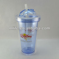 promotion good quality plastic drinking cup lid straw