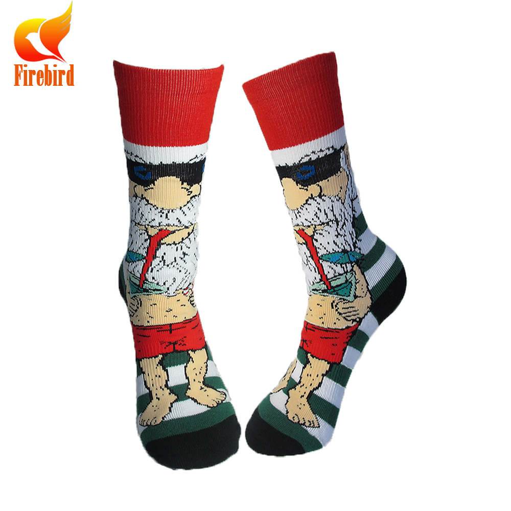 High quality business dress happy socks with customized box