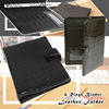 Metal Button Closure Vinyl Cardboard File Portfolio With Ring Binder
