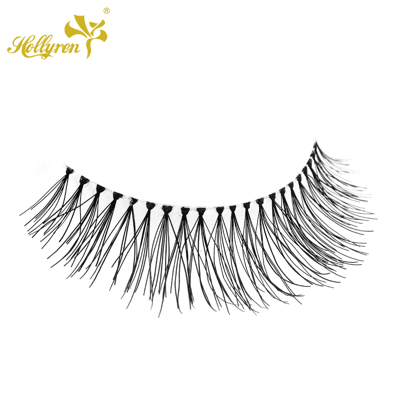 High Quality 3D Premium own brand wholesale human hair eyelashes