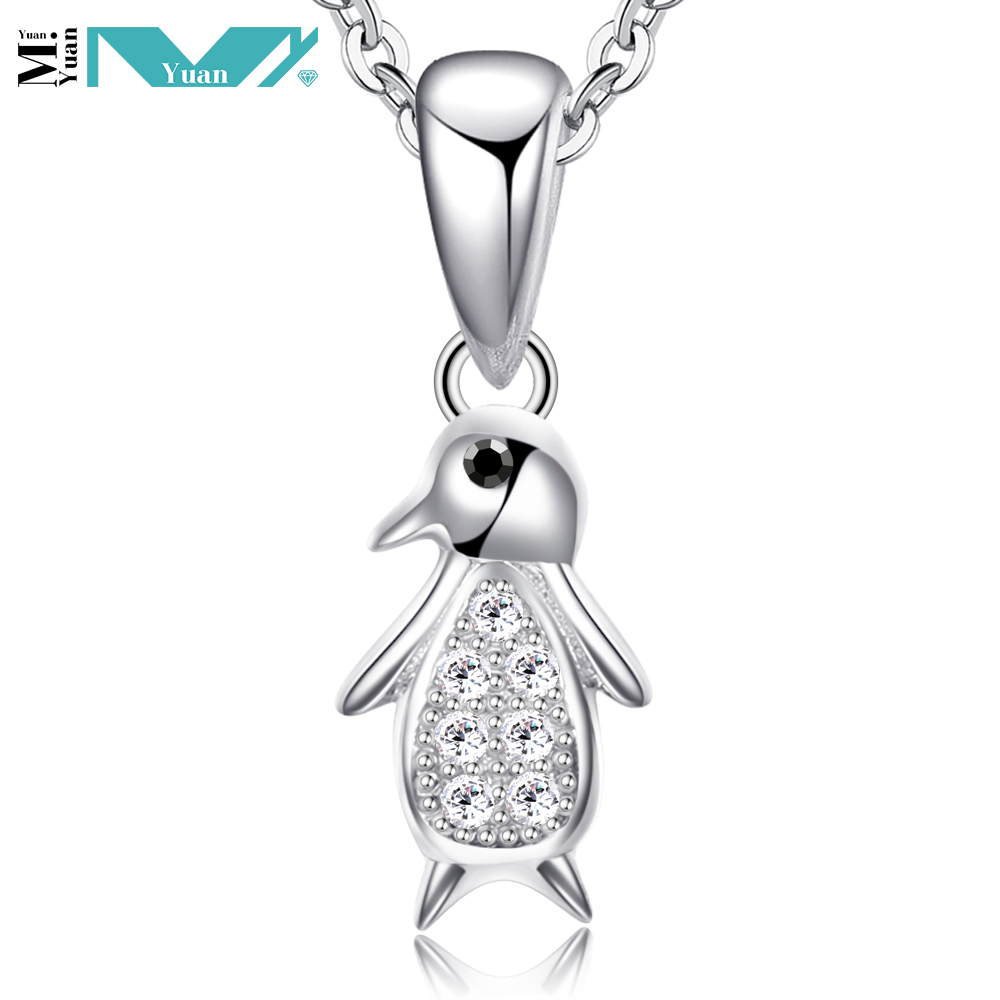 Tiny Baby Penguin Necklace 925 Sterling Silver