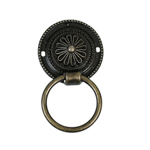 Zinc Based Alloy & Iron Based Alloy Antique Bronze Pattern Carved Jewelry Wooden Box Pull Handle Knobs