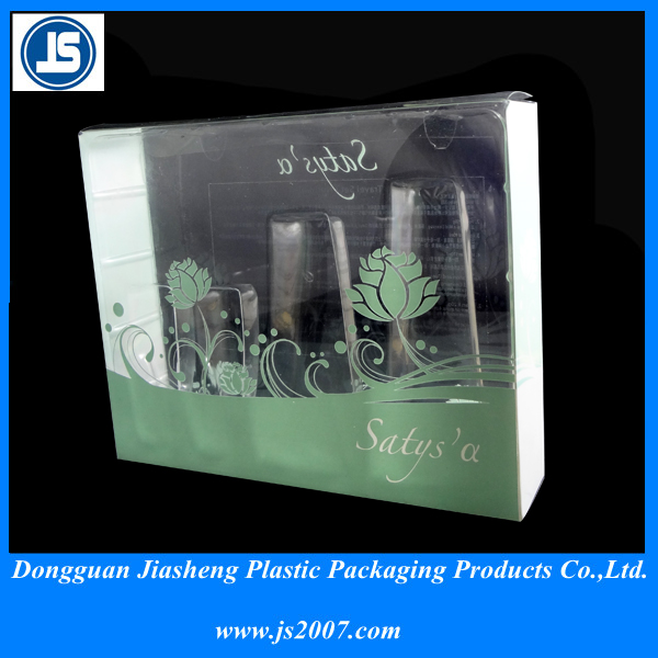 clear pvc box plastic packaging for cosmetics