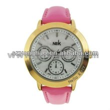 vogue top brand silicone lady watch for gift