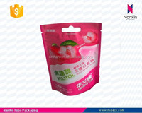 candy packaging stand up pouch with zipper for chewing gum