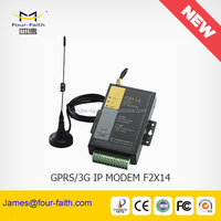 F2414 gsm modem pool industrial 3G Modem with sim card slot support RS232/RS485 TCP/IP 5 I/O port for telemetry SCADA