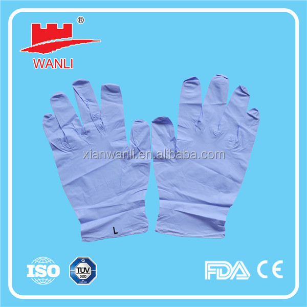 purple nitrile glove/disposable nitrile glove/nitrile examination gloves latex free