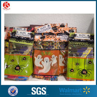 Halloween Oker Band Plastic Self-Adhesive Treat Bags