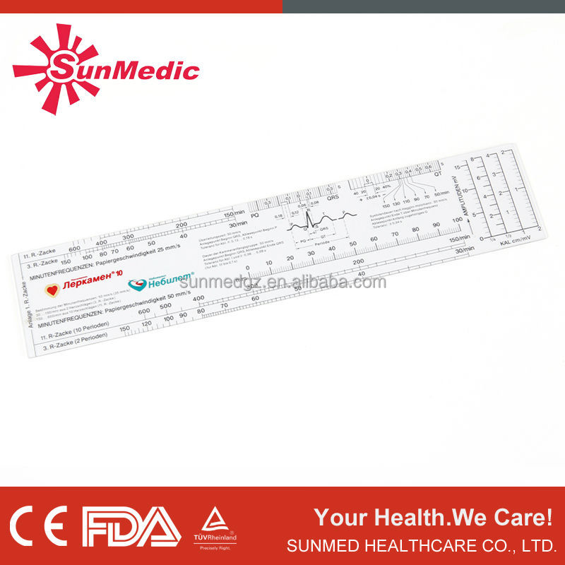 Plastic PVC Pain Ruler with Goniometer