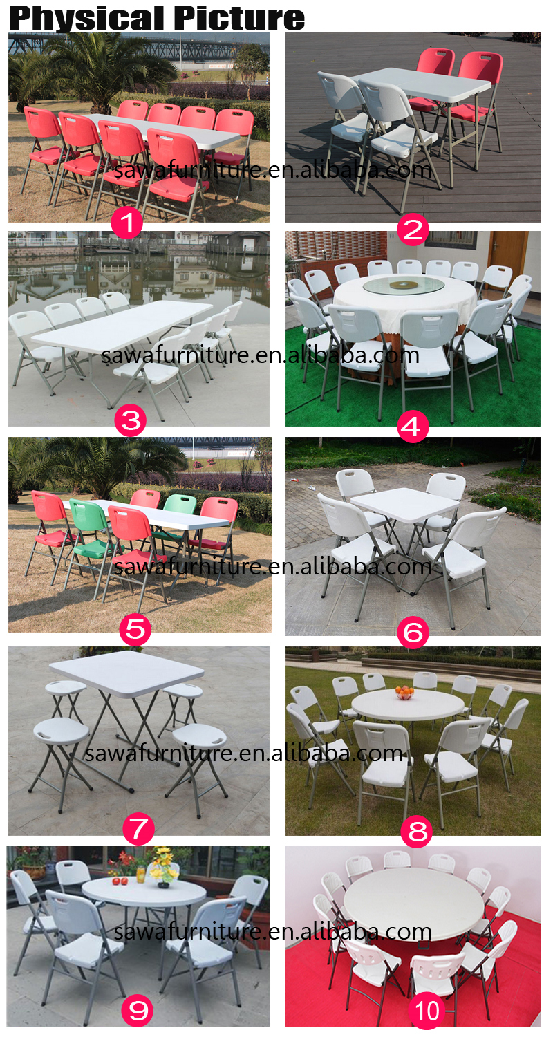 Plastic Fold Table for Event Wedding