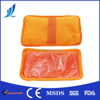 Orange color soft plush gel beads hot cold pack
