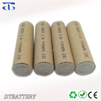 18650 3.2v 1100mAh LiFePO4 cells ,High Power 10C Discharge used for li-ion battery pack