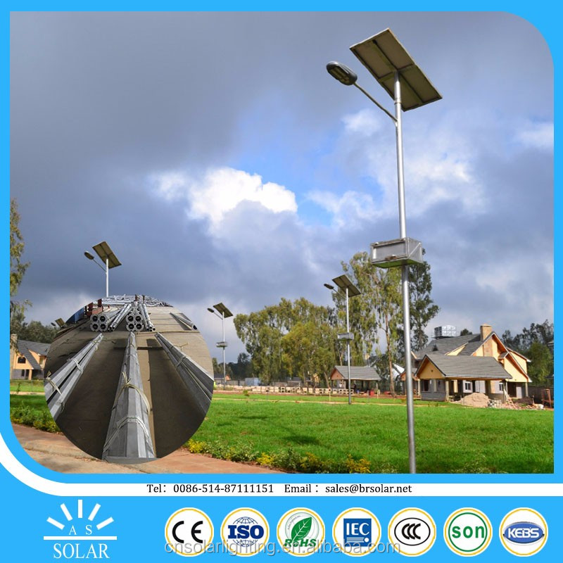 150w housing 100w price outdoor solar power LED street light with pole