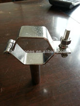 Stainless steel sanitary clamp & pipe holder