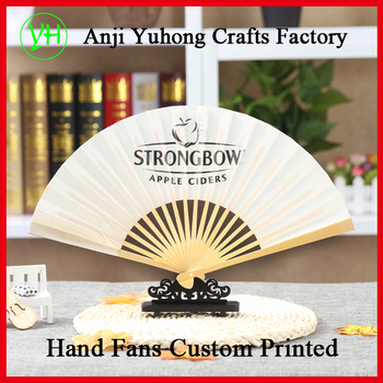 Customized Japanese style folding paper fan with advertising logo
