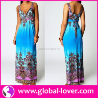 Women Beach Dress 2016 Bohemian Dress Wholesale Plus Size Maxi Dress Summer China