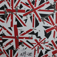 Union Jack Flag Pattern Printed PVC Rexine Leather Making for Sofa,furniture,bar chairs