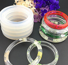 Clear Crystal Polish Transparent Silicone Unisex Bangle Bracelet Molds Size