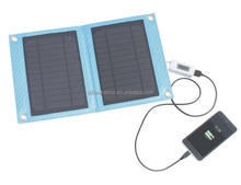 China manufacture 7w solar usb wire charging bank phone