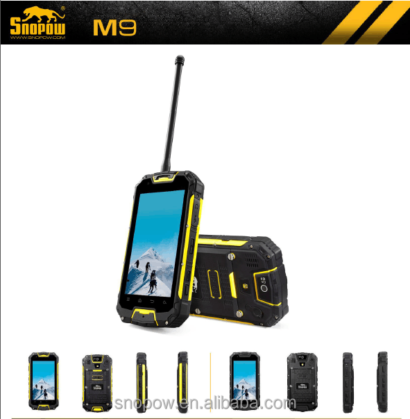 SNOPOW M8 IP68 waterproof 4.5 inch walkie talkie 5 KM android 4.4 NFC quad core android non camera phone