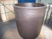 China export blocking resistance graphite Sic crucible for melting gold,brass