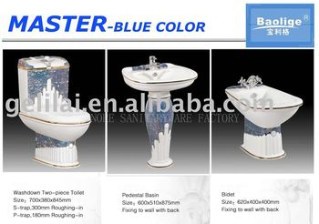 Ceramic sanitary ware bathroom suits buy sanitary ware for Master sanitary price list