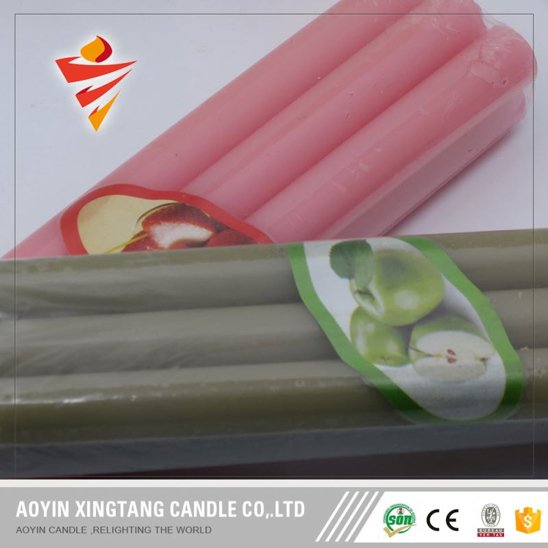 China Factory Birthday Small Taper Color Flame Spiral Candle