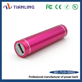 Professional manufacturer power bank lipstick portable pink