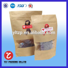 Custom brown paper peanut bags for grocery wholesale
