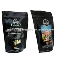 Aluminum foil zipper stand up packaging bags for coffee