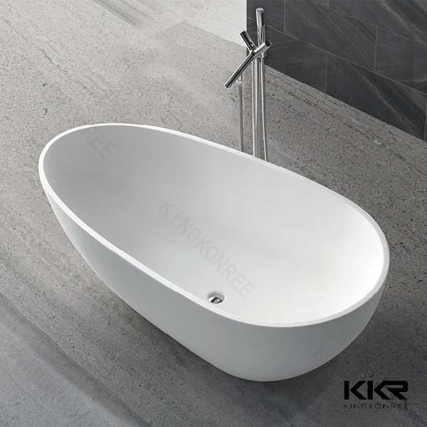 Solid surface freestanding mini bathtub container