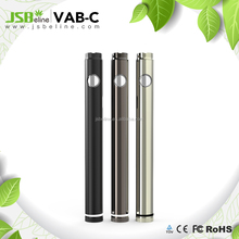 Newest Arrival Custom logo on 510 battery cbd oil vape VAB battery from JSB factory