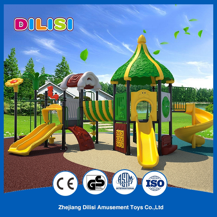 Multifunctional Children Entertainment Equipment Outdoor Playground Big Plastic Slide