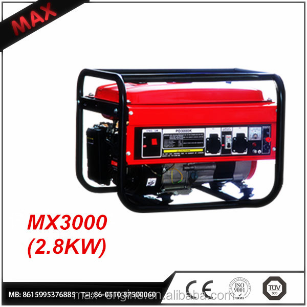 Manual Open Frame 2800W Gasoline Engine Generator Made in China