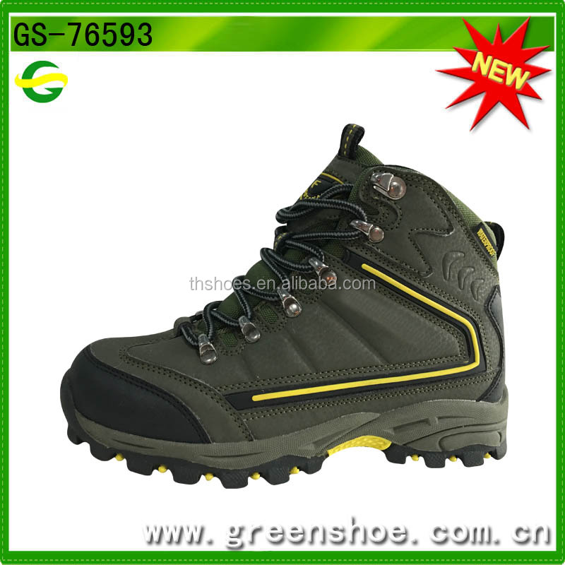 Best selling new item high-cut PU waterproof boys safety hiking shoes winter boots