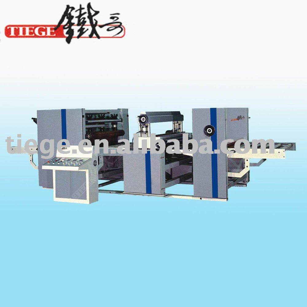 Oil Press PVC Paper Sticking Machine For Furniture Cabinet