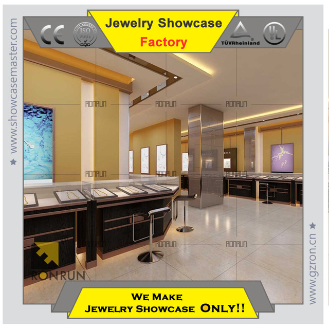 Top selling high end wood design ideal jewelry shop furniture display racks