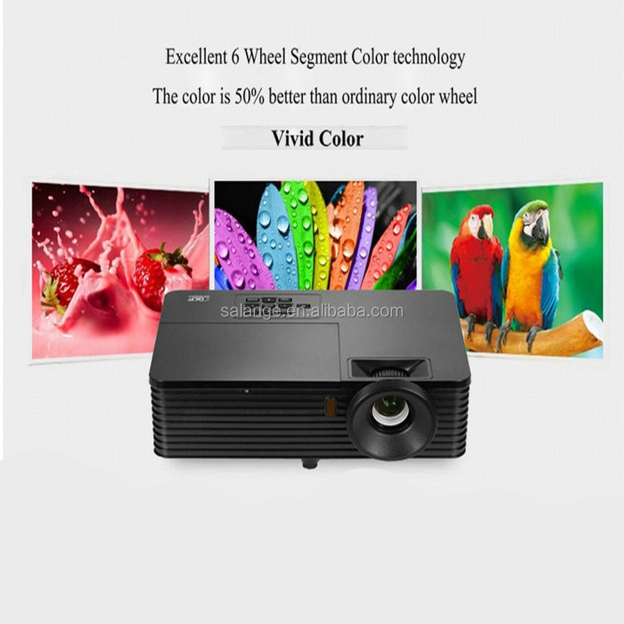 Short throw DLP projector 3D shutter glasses for gift better use daytime outside small distance big screen