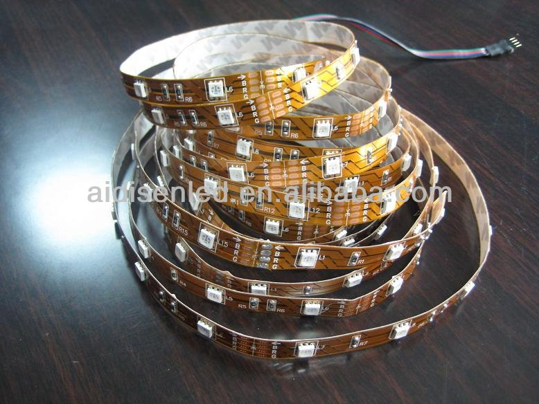 DC12V 5050 smd Waterproof led flexible strip 30/60 leds/meter with ip66