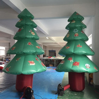 Outdoor or indoor advertising large inflatable christmas tree decorations