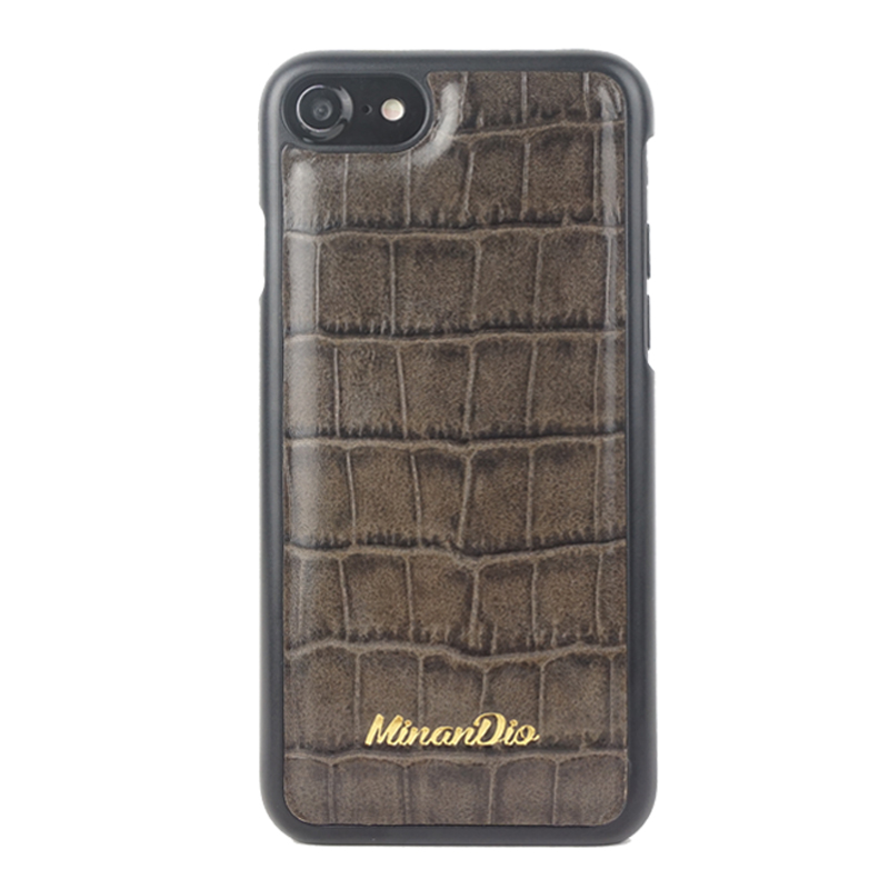 4.7'' slim croco leather phone back case for iphone 7