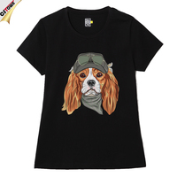 Alluring Cavalier King Charles Spaniel Dog Custom Digital Full Print T Shirt