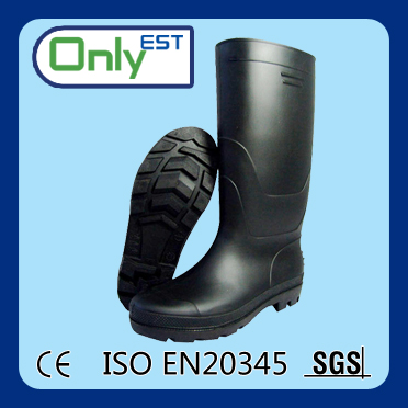 Knee high protective lightweight high quality safety mining PVC rubber boots
