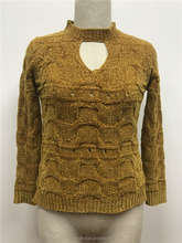 Sexy Heavy Winter Chenille Women Pullover Knit Sweater
